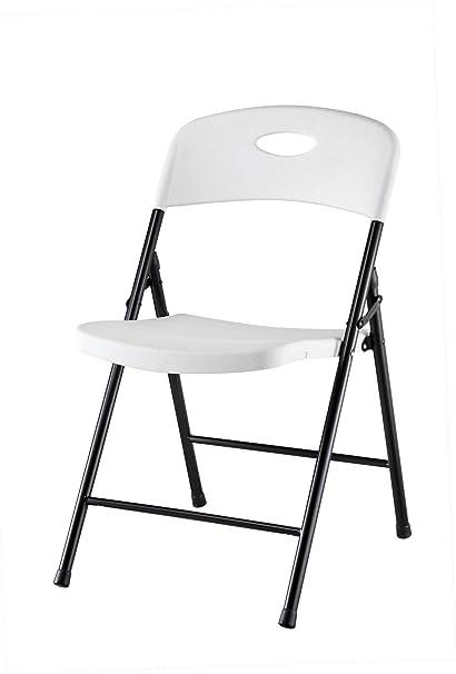 White Plastic Folding Chairs   Stackable, Lightweight U0026 Sturdy, Classic U0026  Elegant   For