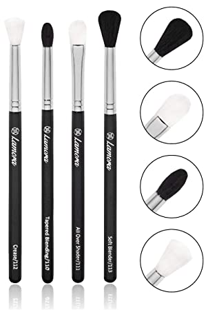 e12827cf15e0 Pro Blending Brush Set - Smoky Eye Shadow Contour Kit - 4 Essential ...