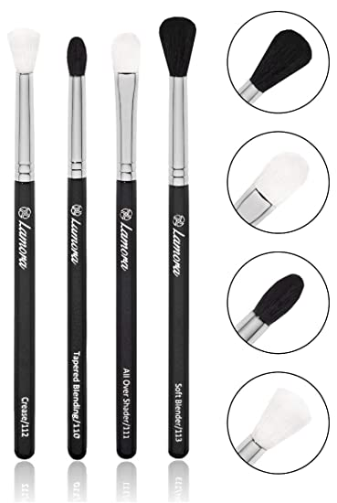 8bdd095b3308 Pro Blending Brush Set - Smoky Eye Shadow Contour Kit - 4 Essential Shapes  - Best Choice Crease, All Over...