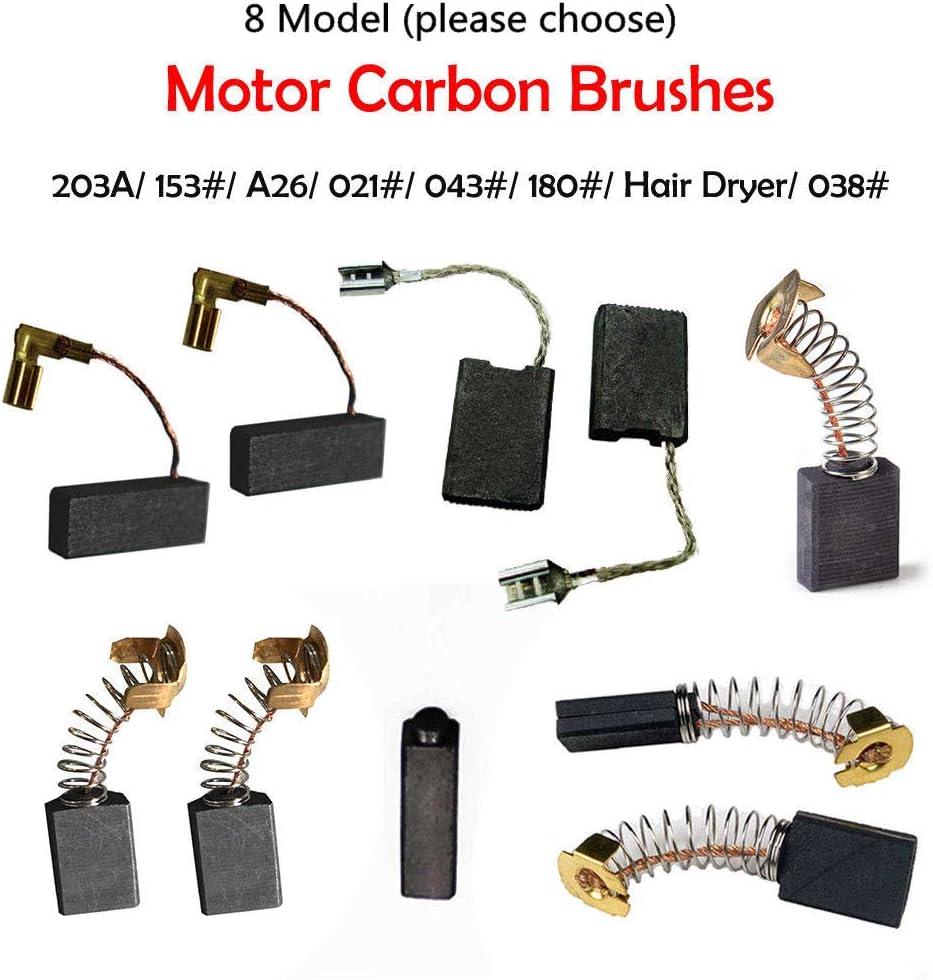 Moteur remplacement carbone Brosse Motorcarbon 13 mm x 9 mm x 6 mm Lot de 8