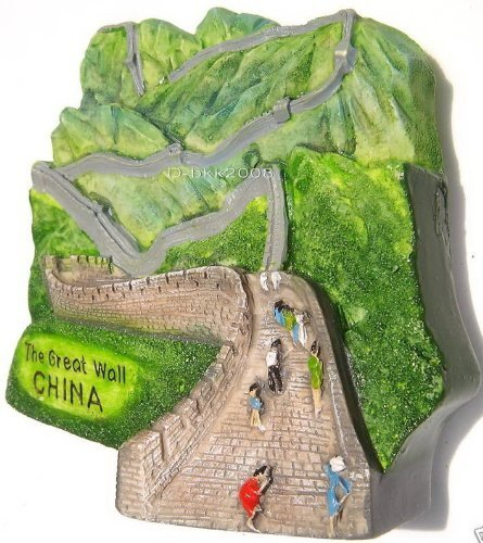 (The Great Wall China. (7 Wonders of the World ), High Quality Resin 3d Magnet)