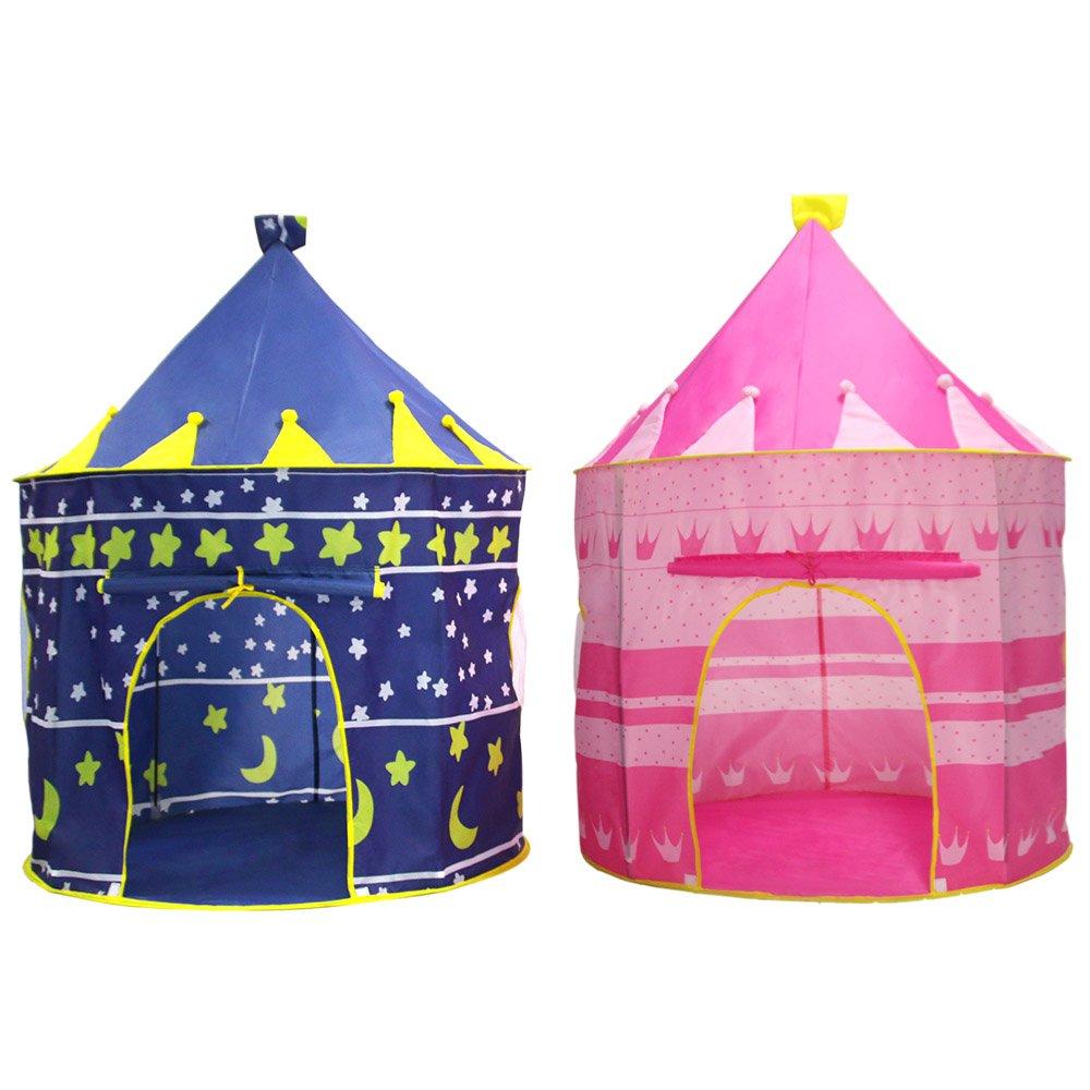 precios bajos azul EODUDO-S-play tents Tienda de Juegos para niños Tienda Tienda Tienda de Juegos para niños - para niños niñas Bebé niños pequeños Playhouse Prince House Castle Tiendas Plegables (Color   azul)  Vuelta de 10 dias