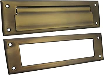 QCAA Solid Brass Mail Slot, with Solid Brass Interior Frame, 10