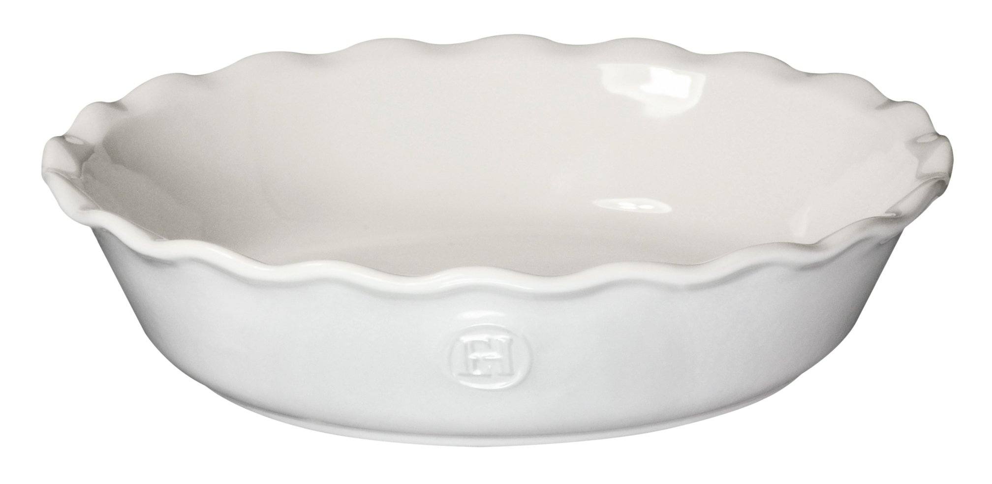 Emile Henry Made In France HR Modern Classics Pie Dish, 9'', White by Emile Henry