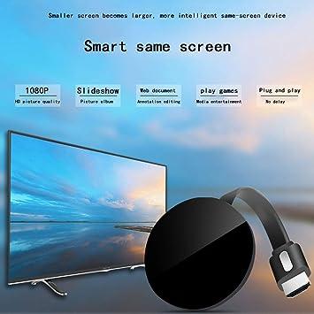 HongLianRiven Monitor de Pantalla inalámbrica, la computadora del teléfono móvil Conectado al TV de proyección, adecuados for HDMI Equipo de Interfaz, Negro 12-23: Amazon.es: Electrónica