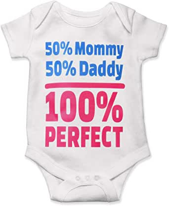 Amazon.com: Mommy Daddy Baby Bodysuit Bodysuit 50 Percent