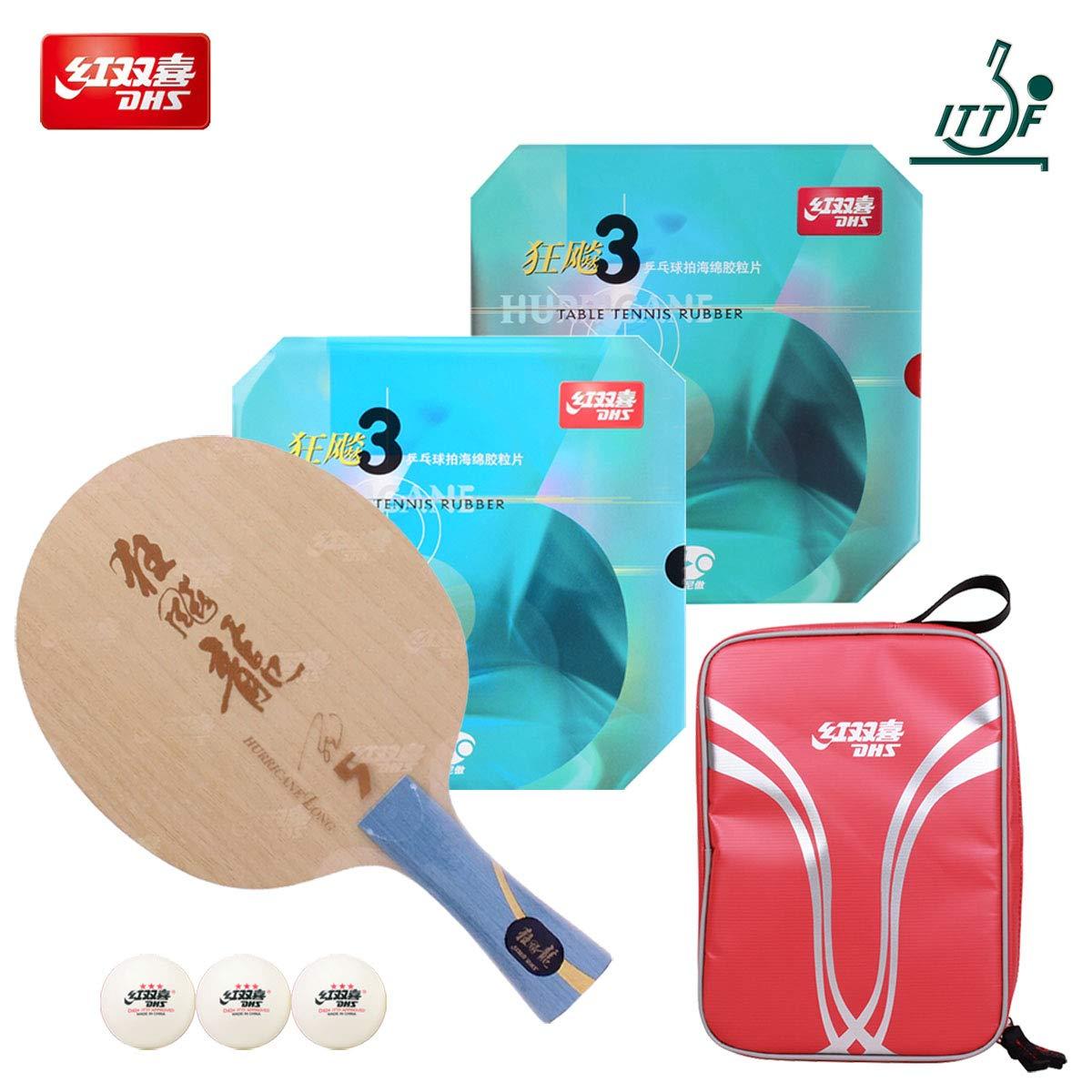 DHS 手作業で組み立てられたプロフェッショナル卓球ラケット - プロの卓球ラケット パドルコンビネーション 卓球用ブレード卓球ラケット - ITTF承認トーナメントピンポンラケット B07JHNKN9K
