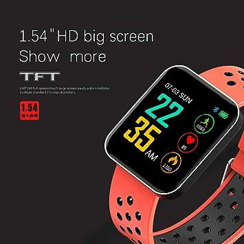 Amazon.com: S88 Men Women Smart Watch Reloj Inteligente Passometer Activity Fitness Heart Rate Sports Smartwatch Wristband,B: Electronics