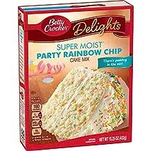 Betty Crocker Baking Super Moist Rainbow Chip Cake Mix, 15.25 Ounce
