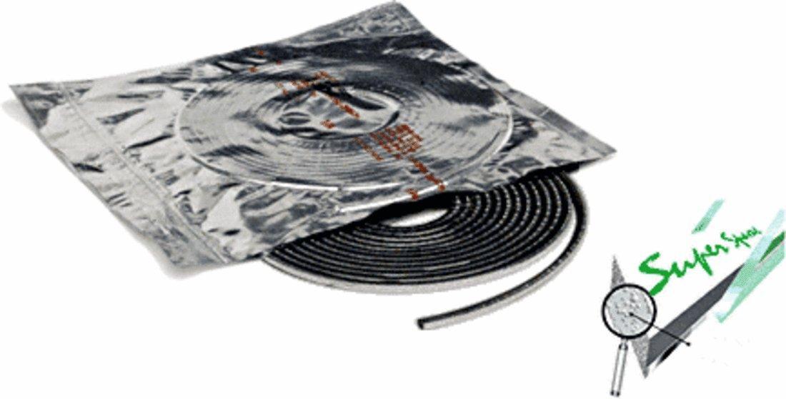 Black 3/16'' Wide Edgetech Super Spacer - 66 Foot Roll