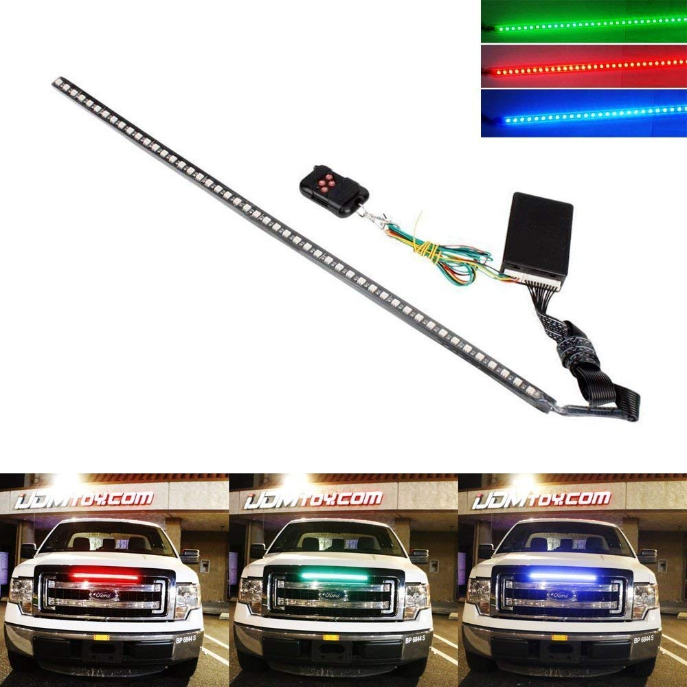 iJDMTOY 20 inches 48-LED RGB LED Knight Rider Scanner Lighting Bar For Car Interior or Exterior Decoration by iJDMTOY