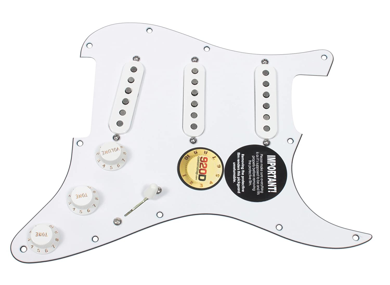 Fender Tex Mex 920d Loaded Pre Wired Strat Pickguard White Dimarzio Super Distortion Hot Wire Wiring Musical Instruments