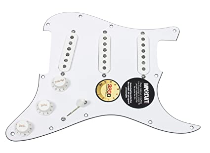 amazon com 920d custom loaded pickguard for strat w fender cs \u002769