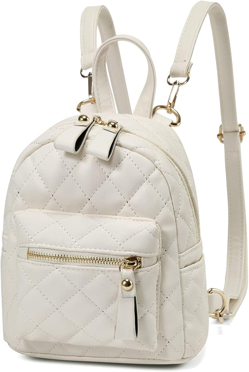 Mini Backpack Purse, Kasqo 3 Ways to Carry Small Quilted Purse for Women Girls