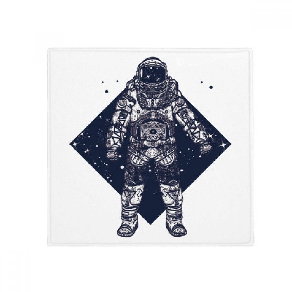 DIYthinker Astronaut Stars Universe Art Pattern Anti-Slip Floor Pet Mat Square Home Kitchen Door 80Cm Gift