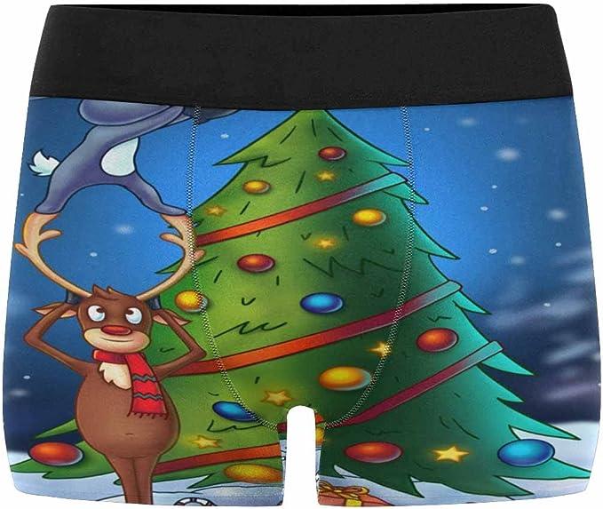 XS-3XL INTERESTPRINT Mens Boxer Briefs Underwear Christmas Trees