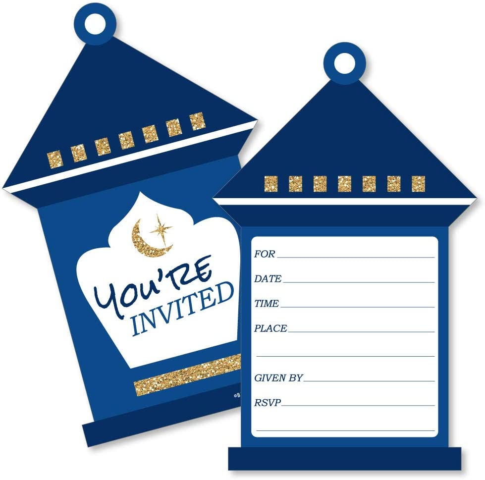 Pack of 5 Eid Party Invitation Set