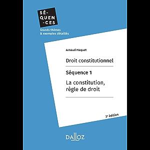 Droit constitutionnel. Séquence 1 : La constitution, règle de droit: En 11 thèmes (Séquences) (French Edition)