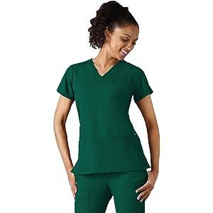 1e6f2239b1e Jockey 2299 Women's Zippered Pocket Crossover Neck Scrub Top - Comfort  Guaranteed