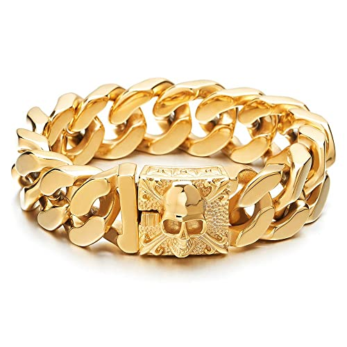 Pulsera Acero Inoxidable Oro Cadena Barbadahttps://amzn.to/2KxSKd4