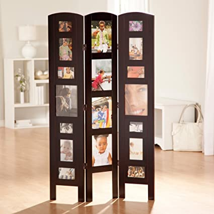 Memories Photo Frame Room Divider Rosewood 3 Panel Amazonca