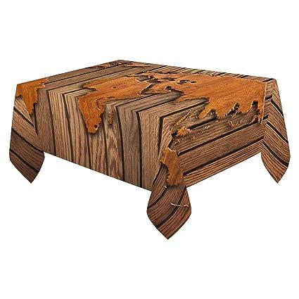 Amazon.com: INTERESTPRINT Linen Table Cover 84x60-Inch Rectangular ...