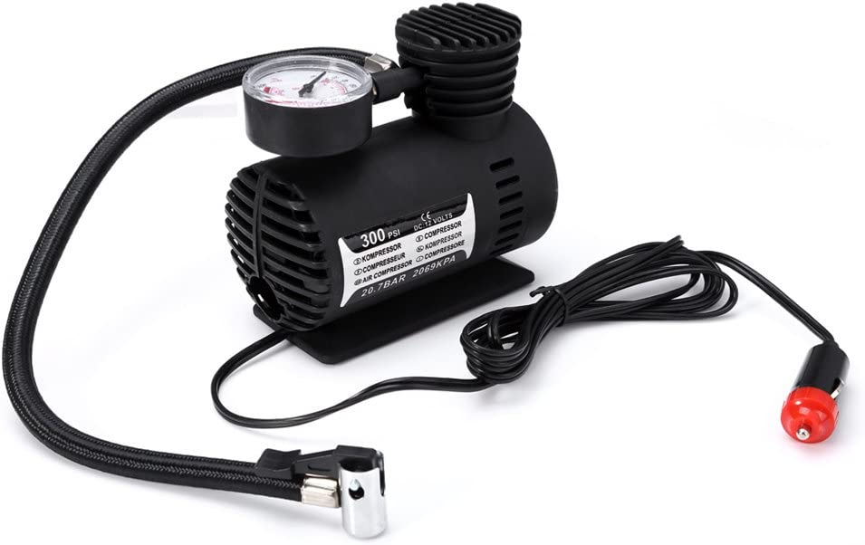 Digital Tire Inflator by 300 PSI WINOMO 12V DC Portable Air Compressor Pump