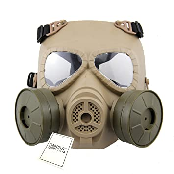 Táctico Máscara QMFIVE Dummy Anti Niebla Máscara de Gas M04 con Doble Ventilador Airsoft paintbal Protección