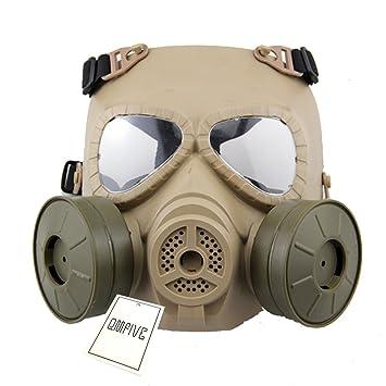 Táctico Máscara QMFIVE Dummy Anti Niebla Máscara de Gas M04 con Doble Ventilador Airsoft paintbal Protección