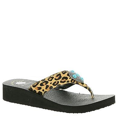 b42b38f86381cf Yellow Box Hailena Women s Sandal 7.5 B(M) US Leopard
