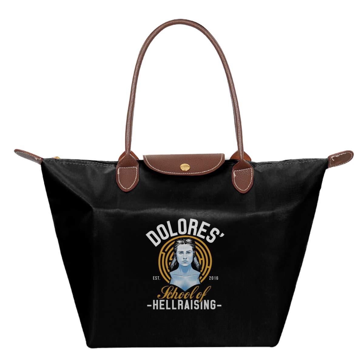 Dolores School Of Hellraising Westworld Waterproof Leather Folded Messenger Nylon Bag Travel Tote Hopping Folding School Handbags