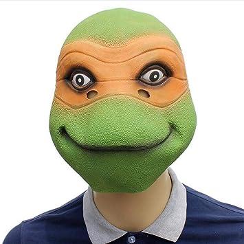 Rwdacfs Máscara Halloween,Divertido látex Tortuga Peluca ...