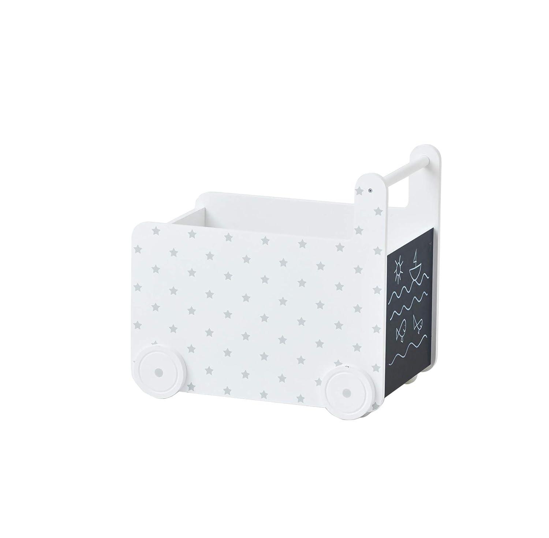 VERTBAUDET Coffre de Rangement /à roulettes Petites /étoiles Blanc TU