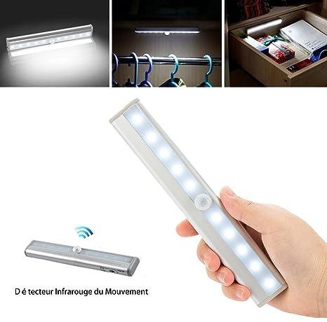 HHD® Luz LED del Armario, Barra de Luz Inalámbrica con Sensor de Movimiento para