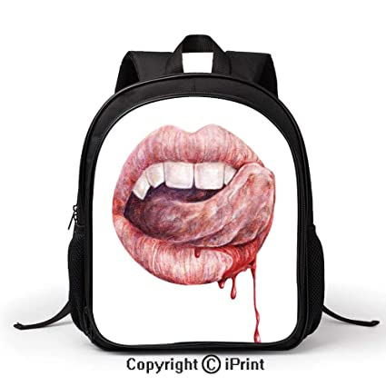 Amazoncom Durable Waterproof School Bag Sexy Vampire Mouth
