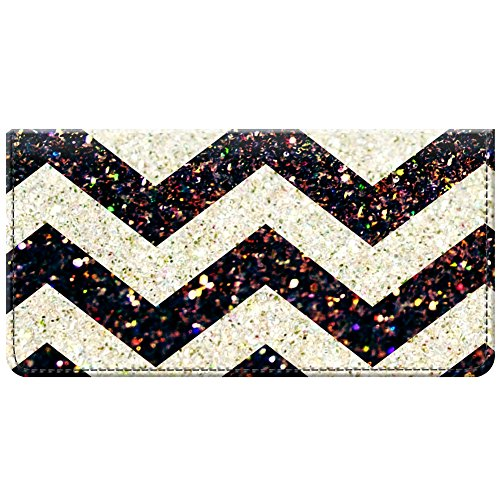 Fabric Black Checkbook Cover (Snaptotes Black Printed Glitter Design Fabric Checkbook Cover)
