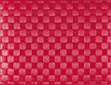 Saleen 01010179101 Placemats, Dishwasher Safe, Heat Resistant, Food Safe, Water Resistant, Ruby Red (Pack of 12)