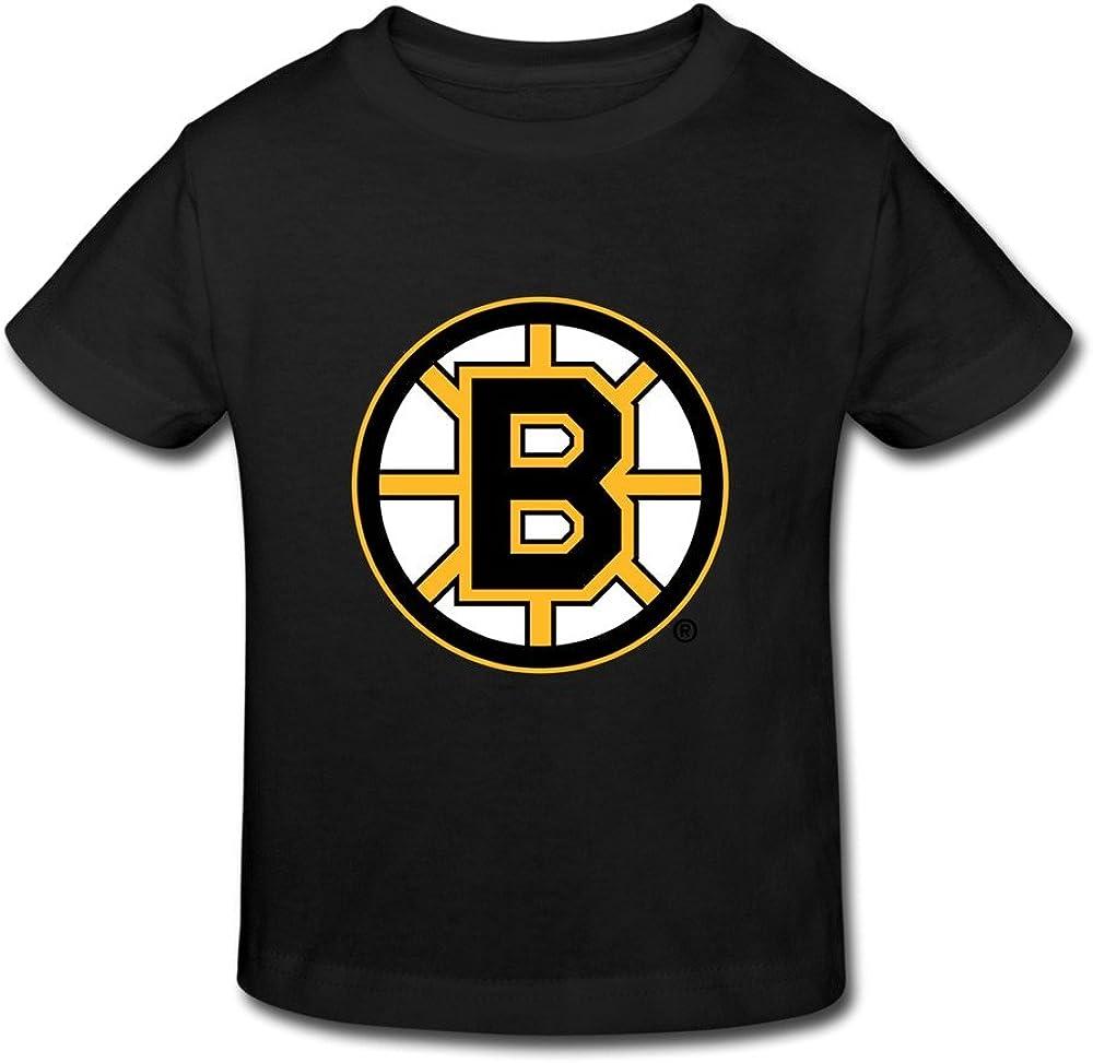 RenHe Toddler Geek Boston Bruins Logo T-shirts