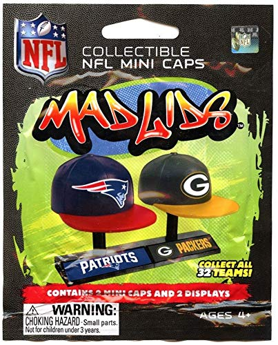 3281d0647d11c Party Animal Mad Lids - NFL Series 1 - Blind Pack (1 Pack) …