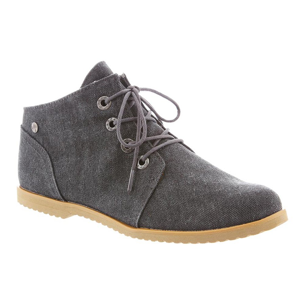BEARPAW Women's Claire Desert Boot, Black, 6
