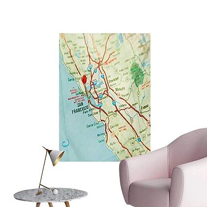 Amazon.com: Anzhutwelve Map Corridor/Indoor/Living Room ...