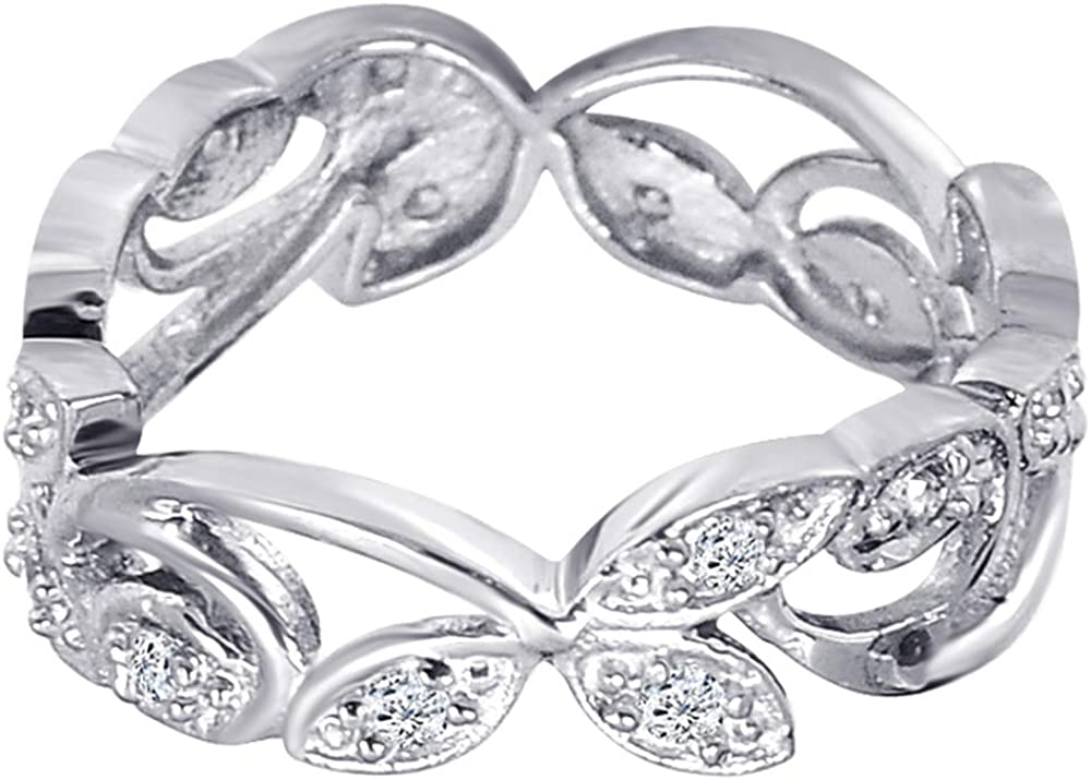Round Shape White Cubic Zirconia Ring For Women Orchid Jewelry 925 Sterling Silver Cluster Ring For Her Elegant /& Unique Jewellery Gift For Your Loved One