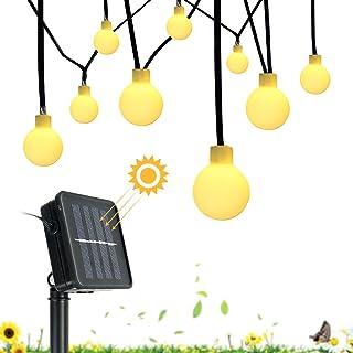 Garland Franja de luz con LEDs de paneles solares de luz ambiental decoración de la iluminación para la Navidad Mairage casa de jardín al aire libre (8 modos de iluminación 30 Bombillas 6M)