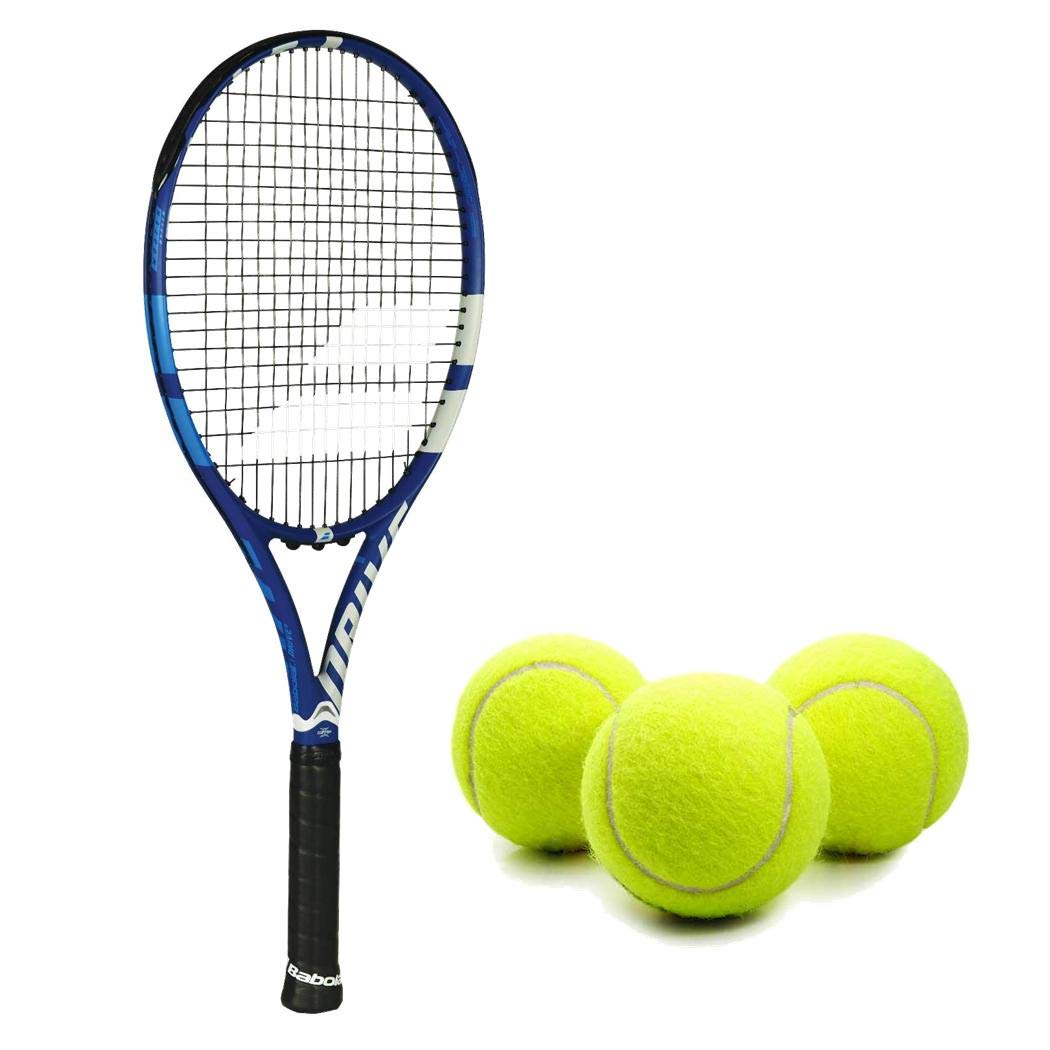 Babolat Drive G (Game) Tennis Racquet (4 1/2'' Inch Grip) Kit or Set Bundled with (1) Can of 3 Tennis Balls (Perfect for Intermediate Players)