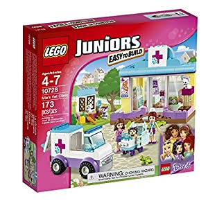 LEGO Juniors 10728 Mia's Vet Clinic Building Kit (173 Piece) - 61BRunEOQ0L - LEGO 10728  Mia's Vet Clinic Toy for Juniors