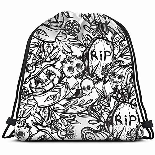 happy halloween grave pumpkinart holidays Gym Sack Bag
