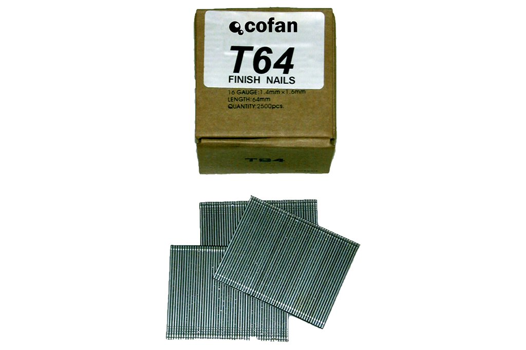 Cofan 09000051 Clavos con Cabeza 25 mm x 1,4 mm x 1,6 mm Set de 2500 Piezas 0.011 V