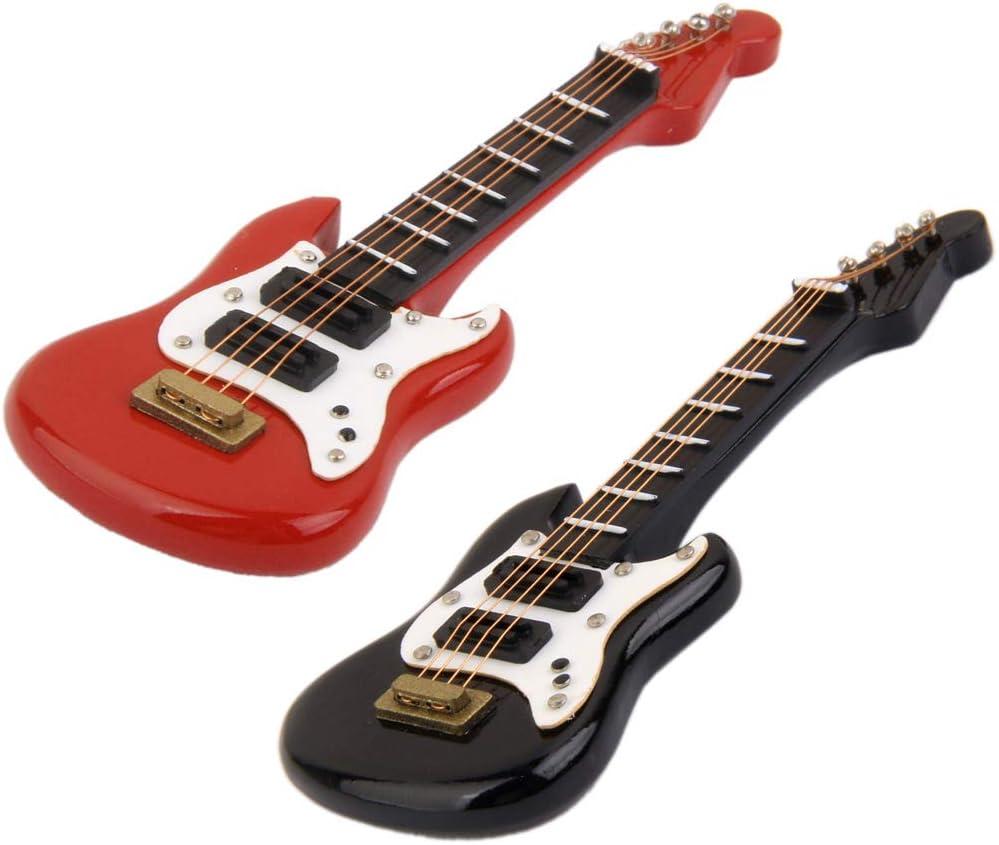 Amazon.es: perfeclan Guitarra Eléctrica En Miniatura De 2 Piezas ...