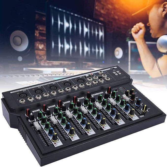 Pbzydu Mezclador de Audio Profesional Consola de Placa de Sonido ...