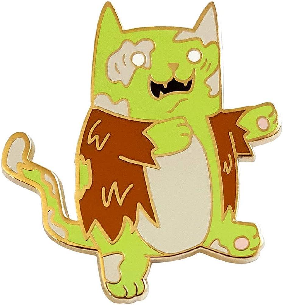 Pinsanity Cute Zombie Cat Enamel Lapel Pin